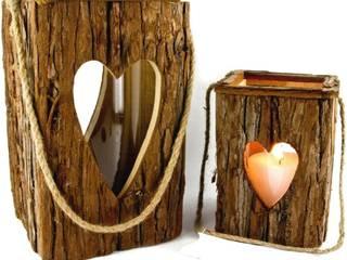 Latern aus Holz mit Herz - groß Rustikale Wohnzimmer von Allgaier-Allerlei Rustikal
