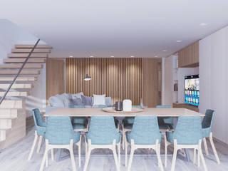 Moradia V2 Alpha Details Salas de jantar modernas