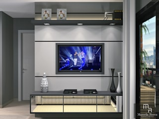 Flat Masculino Salas de estar modernas por Marcela Rocca Arquitetura & Interiores Moderno