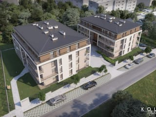 Residential area's bird-eye level view visualizations / Wizualizacje osiedli mieszkaniowych z lotu ptaka od Kola Studio Architectural Visualisation
