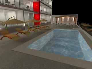 Hotel en playa PROYECTO LED Condominios Blanco