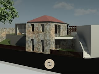 CASA DA FERRÃ Casas rústicas por PERCENTAGEM PLURAL Rústico