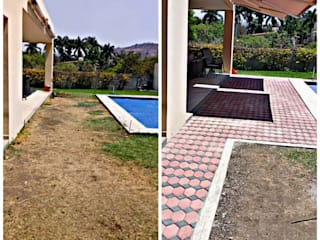 Residencia Naranjo AR216 Patios & Decks Bricks Orange