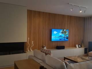 PROJECTO DE SALA Salas de estar modernas por CRISTINA AFONSO, Design de Interiores, uNIP. Lda Moderno