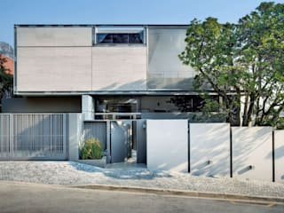 Wright Architects Rumah tinggal Beton Grey