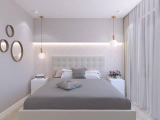 Dormitorios de estilo moderno de Студия дизайна и визуализации интерьеров Ивановой Натальи. Moderno