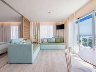 Suites Hotel Palmasol Hoteles de estilo mediterráneo de DyD Interiorismo - Chelo Alcañíz Mediterráneo