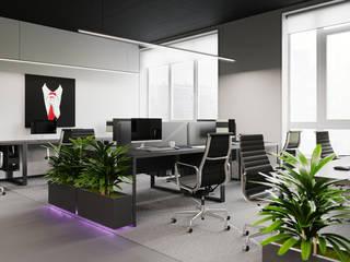 Espaces de bureaux modernes par Zikzak architects Moderne
