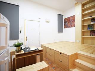 la alacena segoviana s.l Asian style living room Solid Wood