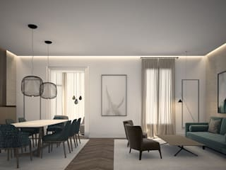 Piso en Calle Pau Claris, Barcelona Salones de estilo moderno de DyD Interiorismo - Chelo Alcañíz Moderno