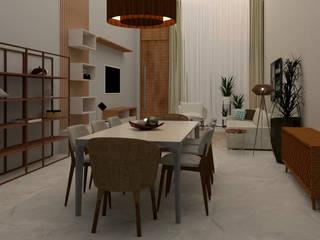 Projeto de Interiores Salas de jantar modernas por Matos Projetos de Engenharia e Empreendimentos Imobilários Ltda Moderno
