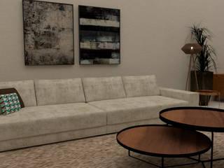 Projeto de Interiores Salas de estar modernas por Matos Projetos de Engenharia e Empreendimentos Imobilários Ltda Moderno