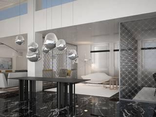 Villa Punta Brava Salones de estilo moderno de DyD Interiorismo - Chelo Alcañíz Moderno