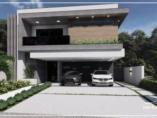 Juan Jurado Arquitetura & Engenharia Maisons mitoyennes Béton Gris