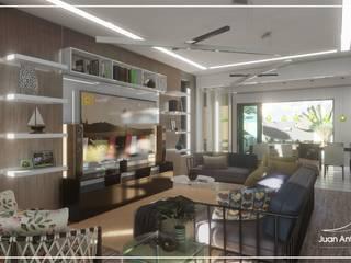 Juan Jurado Arquitetura & Engenharia Salon moderne Bois Blanc