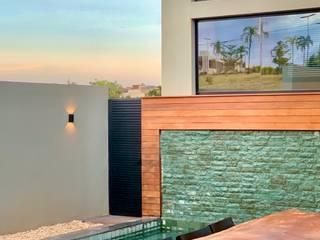 D arquitetura 家庭用プール 石 緑