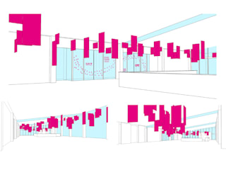 神戸開港150周年記念事業 神戸ポートターミナルロビー空間デザイン の カンマグラム. モダン