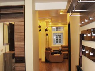 Отделка интерьера трехкомнатной квартиры в Троицке Коридор, прихожая и лестница в классическом стиле от ВАШ МАСТЕРЪ строительно-отделочная компания Классический