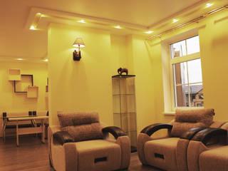 Отделка интерьера трехкомнатной квартиры в Троицке Гостиная в классическом стиле от ВАШ МАСТЕРЪ строительно-отделочная компания Классический