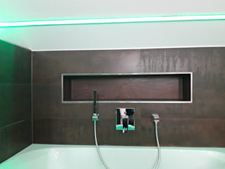 DSHP Der SmartHome Profi GmbH Modern bathroom Tiles Brown