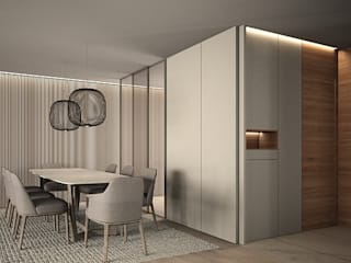 DyD Interiorismo - Chelo Alcañíz Modern dining room Engineered Wood Beige