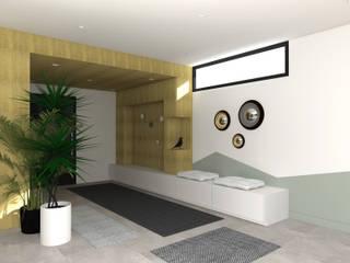 Lionel CERTIER - Architecture d'intérieur Modern Corridor, Hallway and Staircase