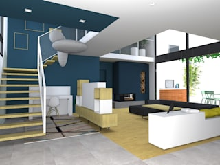 Modern Corridor, Hallway and Staircase by Lionel CERTIER - Architecture d'intérieur Modern