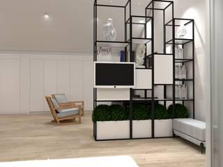 Open Space no Sótão Angelourenzzo - Interior Design Quartos minimalistas