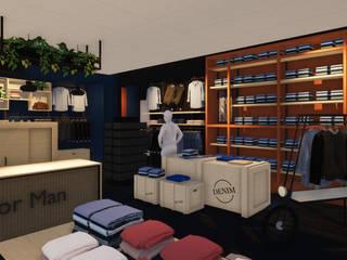New For Man, Hoogezand Moderne winkelruimten van Studio TNK Modern