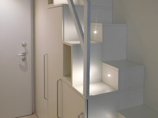 Studio di Architettura IATTONI Pasillos, vestíbulos y escaleras Iluminación