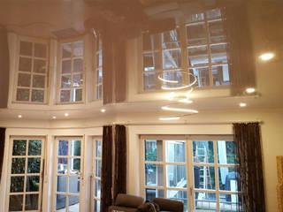 Spanndecken mit glänzender Oberfläche Spanndecken Anbieter Moderne Wohnzimmer