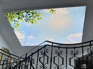 Bedruckte Spanndecken Spanndecken Anbieter Moderner Flur, Diele & Treppenhaus
