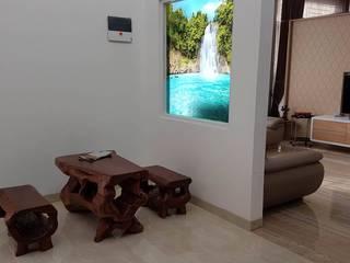 Couloir, entrée, escaliers tropicaux par 9 senses architecture Tropical
