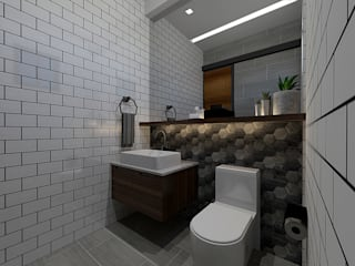 Industrial + Modern Industrial style bathroom by Hayen Interiors Industrial