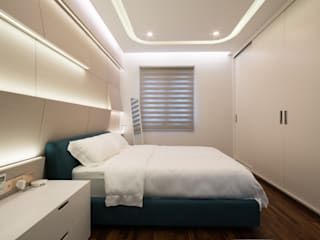 Residential The Tamarind 1300Sqf Legno ID & Construction Modern style bedroom