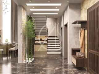 Ingresso, Corridoio & Scale in stile moderno di Comelite Architecture, Structure and Interior Design Moderno