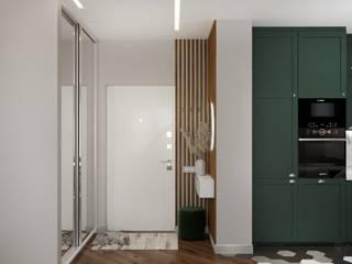 Дизайн-проект квартиры-студии ЖК Vouge Коридор, прихожая и лестница в модерн стиле от ArhPredmet Модерн
