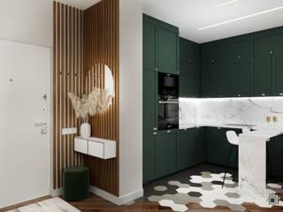 Дизайн-проект квартиры-студии ЖК Vouge Кухня в стиле модерн от ArhPredmet Модерн