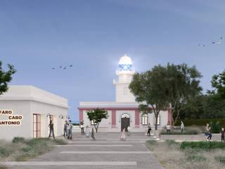 Reforma del Faro del Cabo de Sant Antonio en Jávea Museos de estilo mediterráneo de HoffmannWehr | Arquitectura y diseño interior Mediterráneo