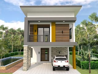 Small Home Design Plan 6x11m with 3 Bedrooms & 3 Bathrooms by Kamalam Construction by Kamalam Construction