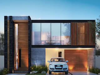Residencia LD [León, Gto.] 3C Arquitectos S.A. de C.V. Casas unifamiliares Madera maciza Acabado en madera