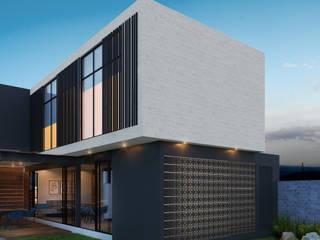 Residencia LD [León, Gto.] 3C Arquitectos S.A. de C.V. Casas unifamiliares Concreto Gris