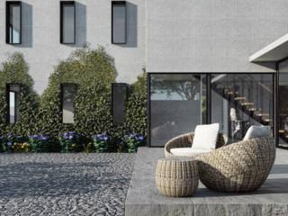 Vivienda en San Carlos de Apoquindo Balcones y terrazas modernos de Olguin Arquitectos Moderno
