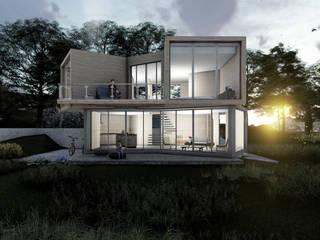 VIVIENDA DE VERANEO EL YALI Casas estilo moderno: ideas, arquitectura e imágenes de Olguin Arquitectos Moderno