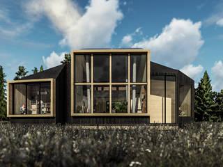 CABAÑA CURACAUTIN Casas de estilo rústico de Olguin Arquitectos Rústico