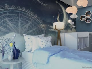 Studio MP Interiores Kamar bayi Blue