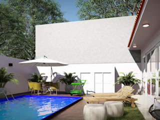 Studio MP Interiores Garden Pool