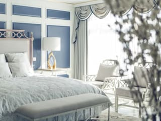 C&M Media Small bedroom Solid Wood Blue