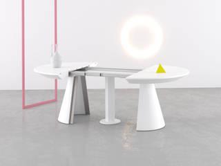 Iris Tondo | Tavolo rotondo allungabile | Round extensible table di Piemy Moderno