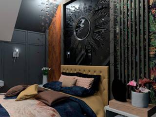 SYPIALNIA Glamour Nowoczesna sypialnia od NOUVELLE Nowoczesny